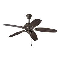 Progress P2533-20 AirPro Outdoor 54 inch Antique Bronze with Toasted Oak Blades Indoor/Outdoor Ceiling Fan