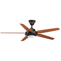 Progress P2539-2030K Signature Plus Ii 54 inch Antique Bronze with Walnut/Medium Cherry Blades Ceiling Fan