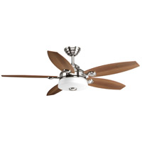 Graceful 54 inch Brushed Nickel with Medium Cherry/Silver Blades Ceiling Fan