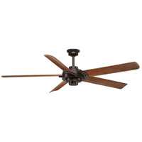 Ellwood 68 inch Antique Bronze with Walnut Blades Ceiling Fan
