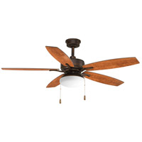 Progress P2552-20 Billows 52 inch Antique Bronze with American Walnut/Cherry Blades Ceiling Fan