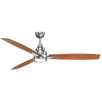 Progress P2554-0930K Gaze 60 inch Brushed Nickel with Silver/Cherry Blades Ceiling Fan