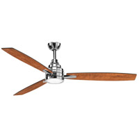 Gaze 60 inch Polished Chrome with Whitewashed Grey/Cherry Blades Ceiling Fan