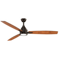 Progress P2554-2030K Gaze 60 inch Antique Bronze with Walnut/Cherry Blades Ceiling Fan