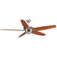 Progress P2560-09 Caleb 68 inch Brushed Nickel with Medium Cherry Blades Ceiling Fan