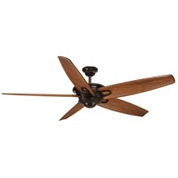 Caleb 68 inch Antique Bronze with Walnut Blades Ceiling Fan