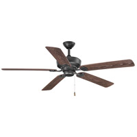 Lakehurst 60 inch Forged Black with Toasted Oak Blades Outdoor Ceiling Fan
