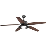 Progress P2564-8030K Montague 60 inch Forged Black with Toasted Oak Blades Outdoor Ceiling Fan