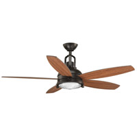 Kudos 52 inch Antique Bronze with Walnut/Cherry Blades Ceiling Fan