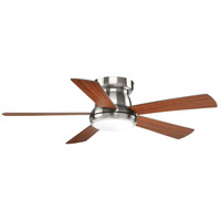 Progress P2572-0930K Vox 52 inch Brushed Nickel with Medium Cherry Blades Ceiling Fan