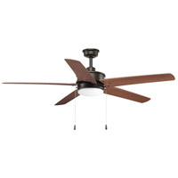 Progress P2574-2030K Whirl 60 inch Antique Bronze with Walnut Blades Indoor/Outdoor Ceiling Fan