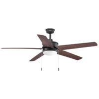 Whirl 60 inch Forged Black with Toasted Oak Blades Ceiling Fan