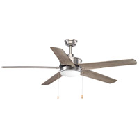 Whirl 60 inch Antique Nickel with Driftwood Blades Ceiling Fan