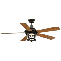 Progress P2576-2030K Smyrna 52 inch Antique Bronze with Walnut Blades Ceiling Fan