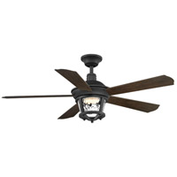 Smyrna 52 inch Forged Black with Toasted Oak Blades Ceiling Fan