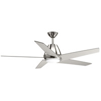 Progress P2582-0930K Gust 54 inch Brushed Nickel with Silver Blades Ceiling Fan