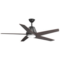 Progress P2582-14330K Gust 54 inch Graphite with Walnut Blades Ceiling Fan