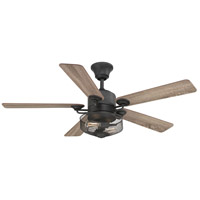 Greer 54 inch Gilded Iron with Toasted Oak/Driftwood Blades Ceiling Fan