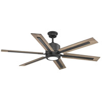 Glandon 60 inch Gilded Iron with Toasted Oak/Driftwood Blades Ceiling Fan