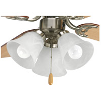 Brushed Nickel Steel Fan Light Kits