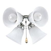 Progress Lighting AirPro 4 Light Fan Light Kit in Brushed Nickel P2610-09