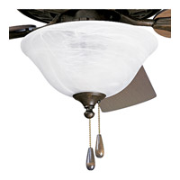 Alabaster Glass 3 Light Weathered Bronze Fan Light Kit