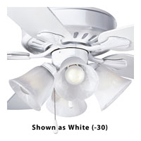 Progress Lighting Alabaster Glass 4 Light Fan Light Kit in Brushed Nickel P2616-09