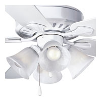 Progress P2616-30 Alabaster Glass 4 Light White Fan Light Kit photo thumbnail