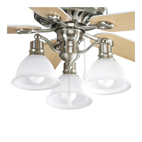 Progress Lighting Madison 3 Light Fan Light Kit in Brushed Nickel P2623-09