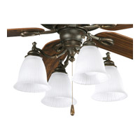 Progress Lighting Renovations 4 Light Fan Light Kit in Forged Bronze P2625-77
