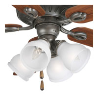 Progress Lighting Signature 4 Light Fan Light Kit in Forged Bronze P2627-77