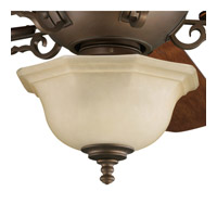 Progress Lighting Thomasville Guildhall 3 Light Fan Light Kit in Roasted Java P2639-102