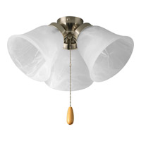 Progress Lighting Universal 3 Light Fan Light Kit in Brushed Nickel P2642-09 alternative photo thumbnail