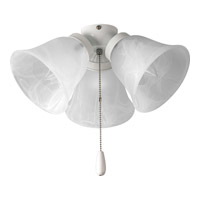 Universal 3 Light White Fan Light Kit in Alabaster Glass