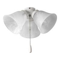 Progress Lighting Universal 3 Light Fan Light Kit in White P2642-30