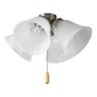 Universal 4 Light Brushed Nickel Fan Light Kit in Alabaster Glass
