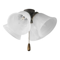 Universal 4 Light Antique Bronze Fan Light Kit in Alabaster Glass