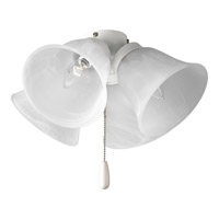 Progress P2643-30 Universal 4 Light White Fan Light Kit in Alabaster Glass photo thumbnail