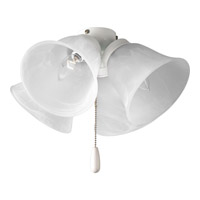 Progress P2643-30 Universal 4 Light White Fan Light Kit in Alabaster Glass alternative photo thumbnail