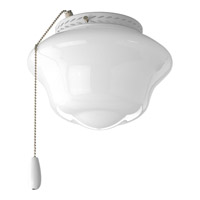 School House 1 Light White Fan Light Kit