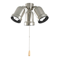 Progress Lighting AirPro 3 Light Fan Light Kit in Brushed Nickel P2646-09