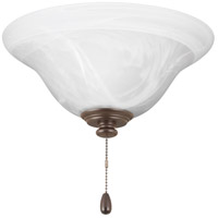 AirPro LED Antique Bronze Fan Light Kit, Etched Alabaster Glass