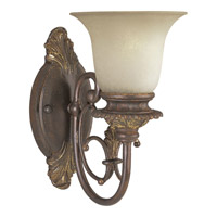 Progress Lighting Thomasville Messina 1 Light Wall Bracket in Aged Mahogany P2704-75