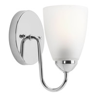 Progress Lighting Gather 1 Light Bath Light in Polished Chrome P2706-15EBWB