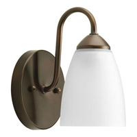 Gather 1 Light 5 inch Antique Bronze Bath Vanity Wall Light in Bulbs Included, Fluorescent