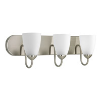 Gather 3 Light 24 inch Brushed Nickel Bath Vanity Wall Light in Bulbs Included, Fluorescent