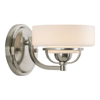 Progress Lighting Torque 1 Light Bath Vanity in Brushed Nickel P2719-09WB