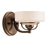Progress Lighting Torque 1 Light Bath Vanity in Copper Bronze P2719-124WB