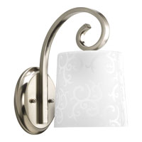 Progress Lighting Nicollette 1 Light Wall Bracket in Brushed Nickel P2723-09