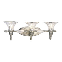 Roxbury 3 Light 26 inch Classic Silver Bath Vanity Wall Light